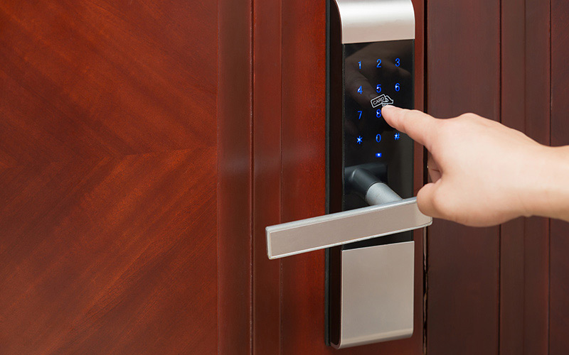An image of door access control