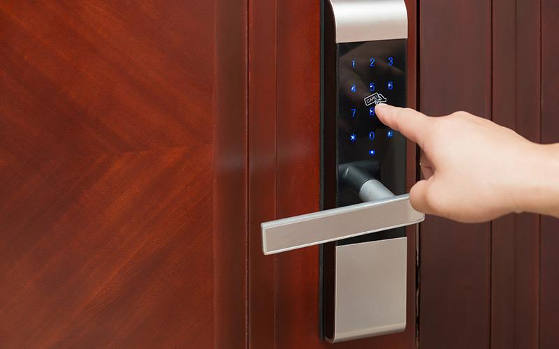 An image of door access control