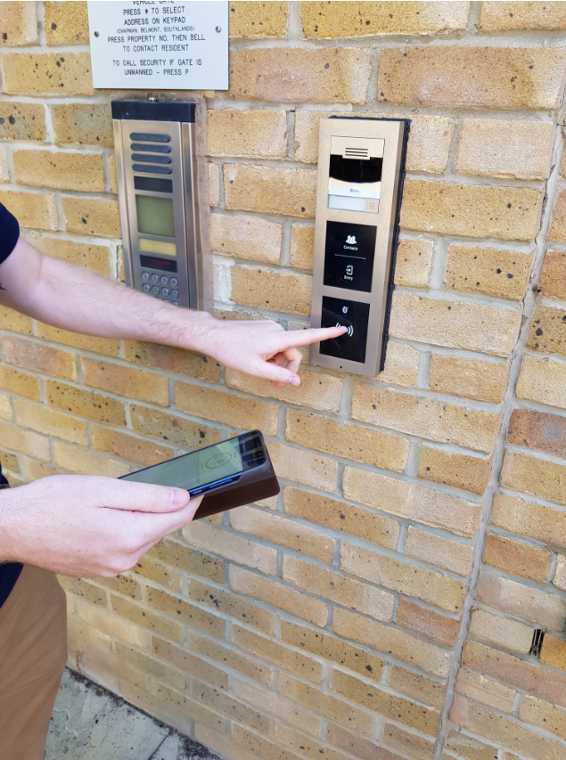 An image of access control system